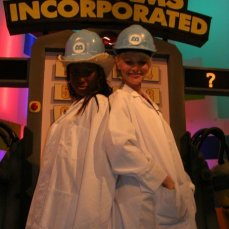 One of the best parts of Studio Disney was playing the Disney themed games with the viewers live. That day it was me and Emma Lee's turn. Such a laugh!