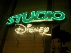 This was the Studio Disney sign directly outside the studio doors