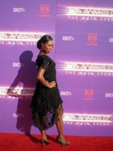 It's all about posing on the red carpet for the world's media at the BET Awards 2007