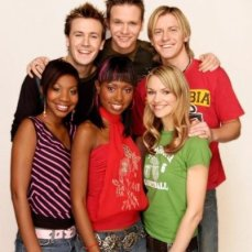 This was my first official photo when I first joined Studio Disney and their existing presenters: (from my left - Serena Francis, Nigel Mitchell, Mark Rumble, Ollie, Emma Lee and me in the middle