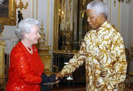 nelson mandela and queen of england
