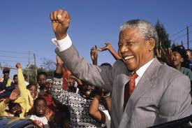 Nelson Mandela celebrates democracy