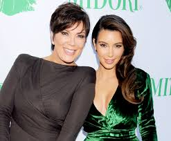 "Kim Kardashian with ""mom-ager"", Kris Jenner"