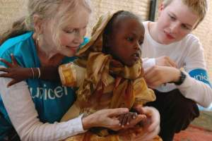 Mia Farrow Visits Sudan